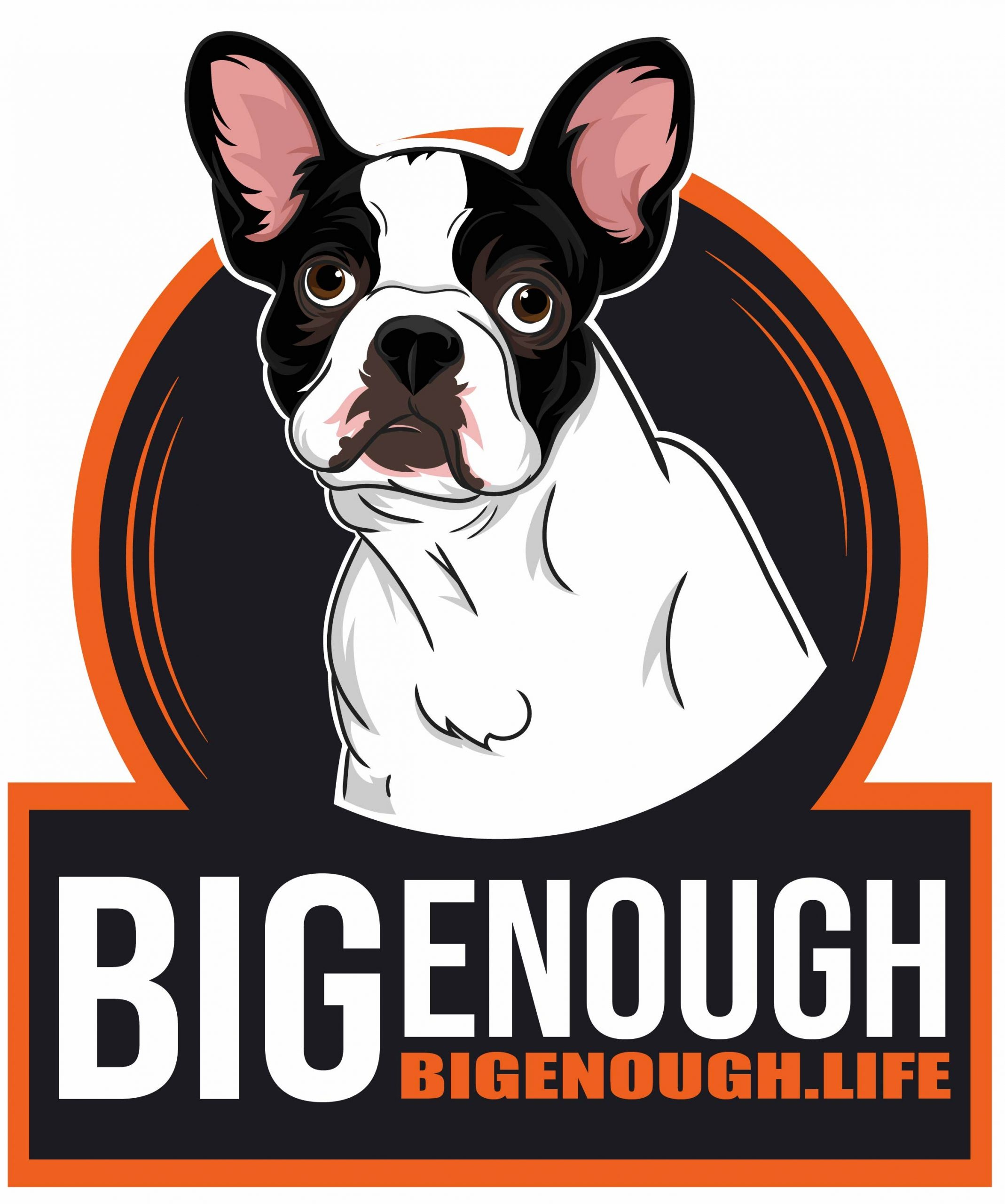 Big Enough Dog Illustration