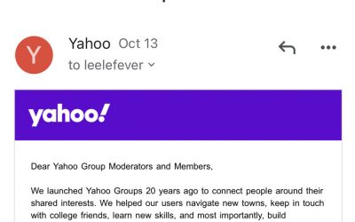 R.I.P. Yahoo Groups