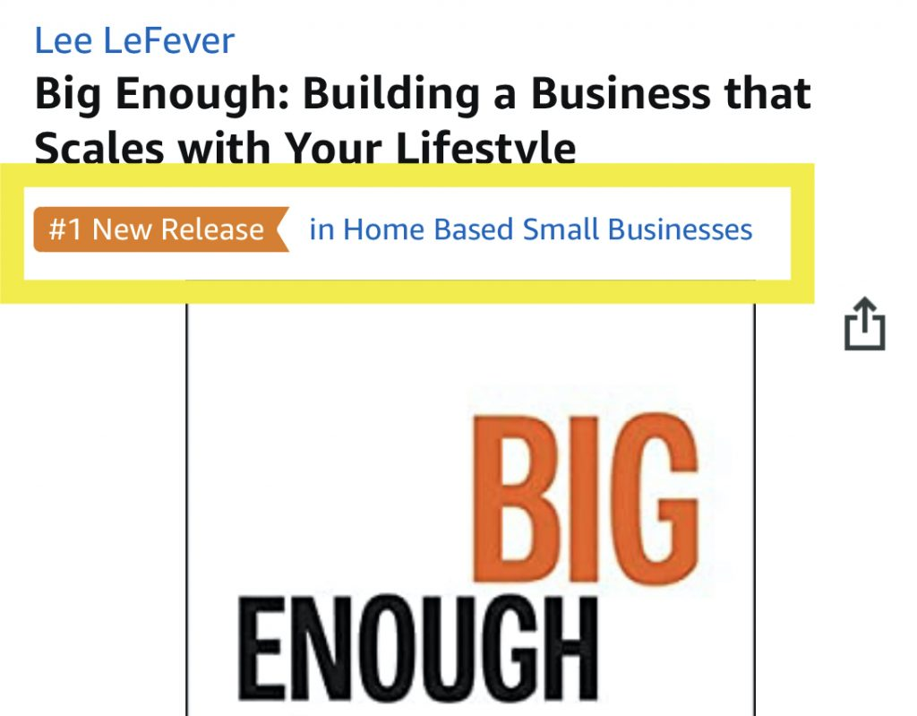 screenshot of big enuogh on amazon