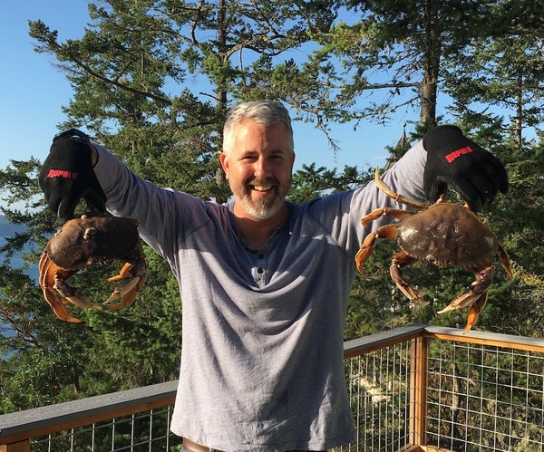 Two Dungeness Crabs
